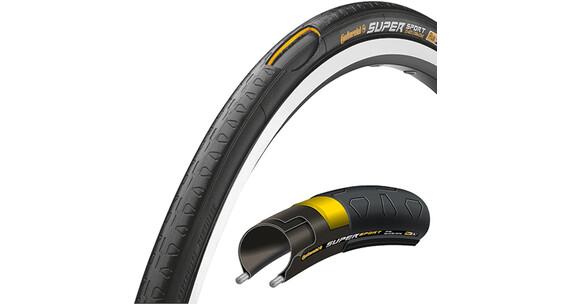 Continental Super Sport Plus - Cubiertas - 28 pulgadas, flexible negro